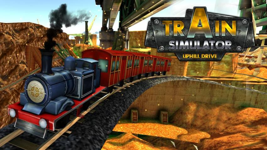 بازی اندروید Train simulator Uphill drive (1)