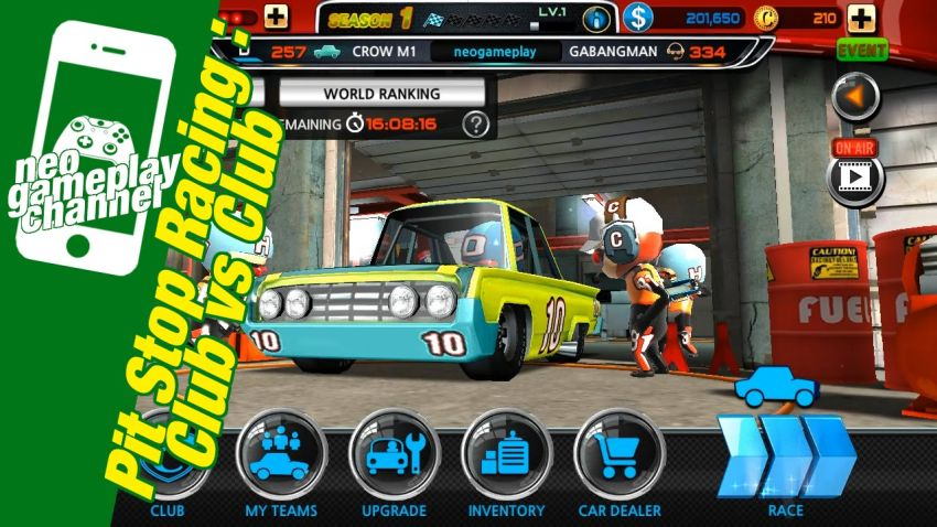 بازی اندروید Pit Stop Racing Club vs Club